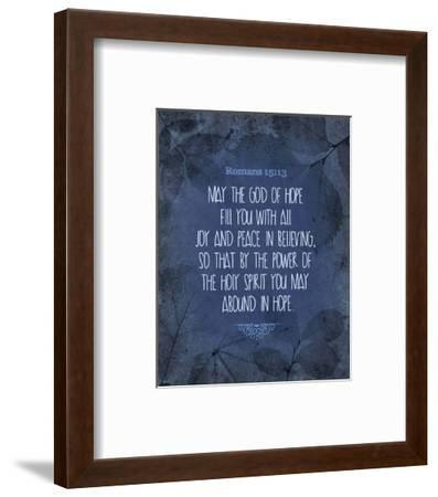 Romans 15:13 Abound in Hope (Blue)-Inspire Me-Framed Art Print