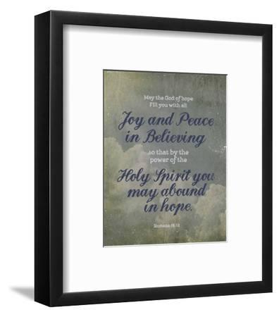 Romans 15:13 Abound in Hope (Clouds)-Inspire Me-Framed Art Print