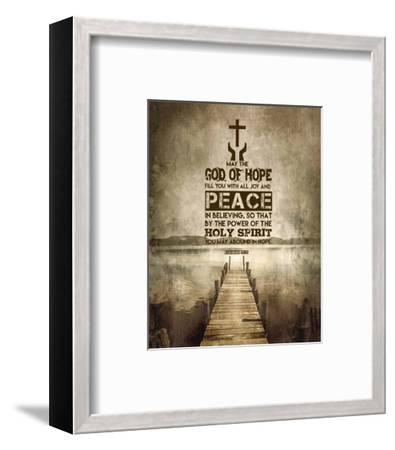 Romans 15:13 Abound in Hope (Sepia)-Inspire Me-Framed Art Print