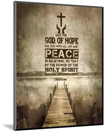Romans 15:13 Abound in Hope (Sepia)-Inspire Me-Mounted Art Print