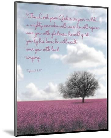 Zephaniah 3:17 The Lord Your God (Colored Landscape)-Inspire Me-Mounted Art Print