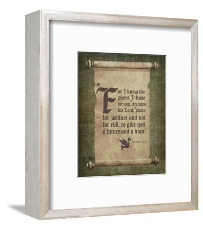 Jeremiah 29:11 For I know the Plans I have for You (Scroll)-Inspire Me-Framed Art Print