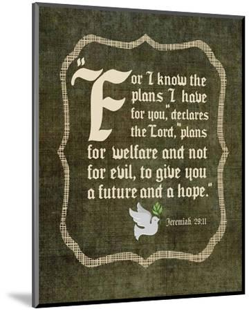 Jeremiah 29:11 For I know the Plans I have for You (White Dove)-Inspire Me-Mounted Art Print