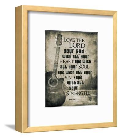 Mark 12:30 Love the Lord Your God (Guitar)-Inspire Me-Framed Art Print
