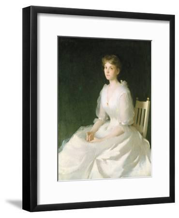Portrait in White, 1889-Frank Weston Benson-Framed Premium Giclee Print