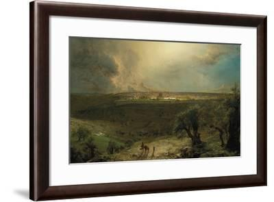 Jerusalem from the Mount of Olives-Frederic Edwin Church-Framed Premium Giclee Print