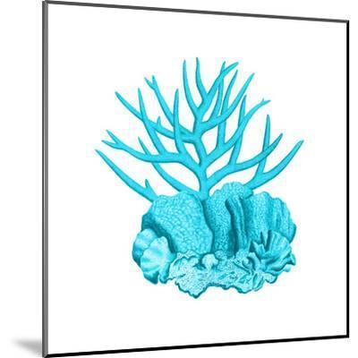 Blue Coral 1-Sheldon Lewis-Mounted Art Print