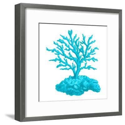 Blue Coral 4-Sheldon Lewis-Framed Art Print