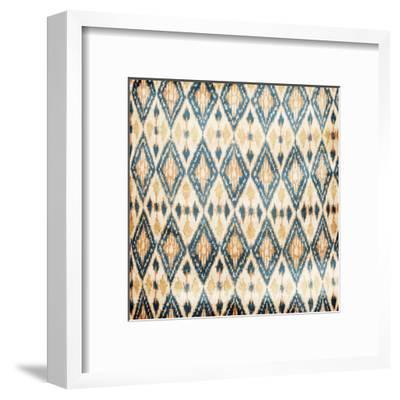 Blue Diamonds-Jace Grey-Framed Art Print