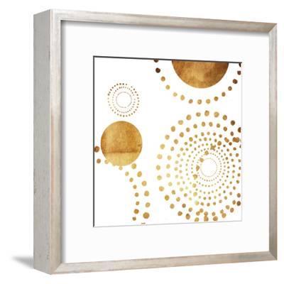 Golden Dots-Jace Grey-Framed Art Print