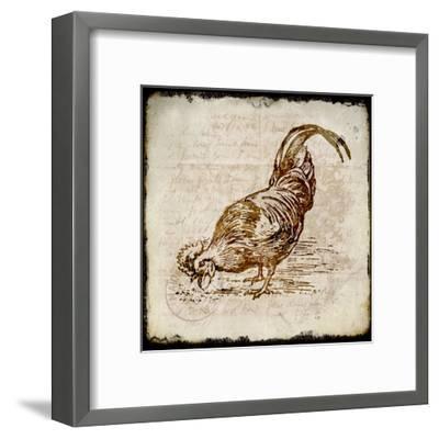 Vintage Rooster Square 3-Kimberly Allen-Framed Art Print