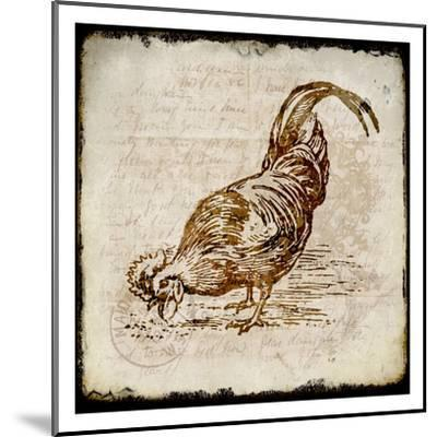 Vintage Rooster Square 3-Kimberly Allen-Mounted Art Print