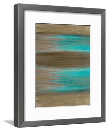 Turquoise Stream 1-Kimberly Allen-Framed Art Print