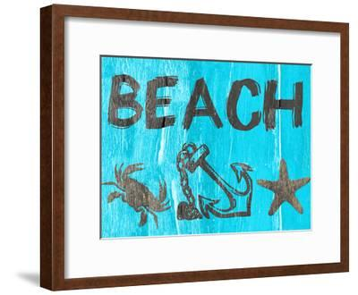 Tales From The Deep Blue-Sheldon Lewis-Framed Art Print