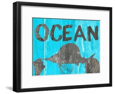 Ocean Blue-Sheldon Lewis-Framed Art Print