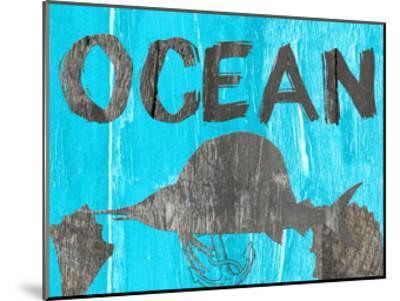 Ocean Blue-Sheldon Lewis-Mounted Art Print