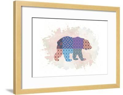 Bear-Victoria Brown-Framed Art Print