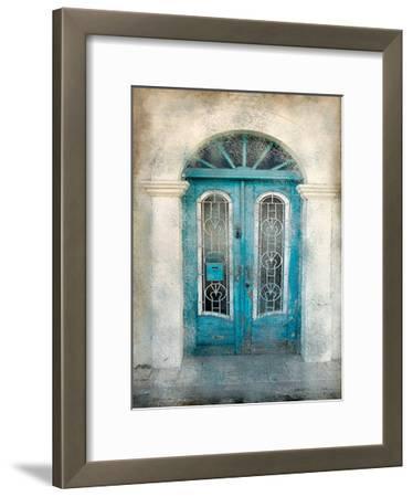 Teal Doorway-Kimberly Allen-Framed Art Print