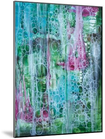 Teal Bubbles-Pam Varacek-Mounted Art Print
