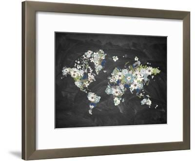 Blooming Map 2-Victoria Brown-Framed Art Print