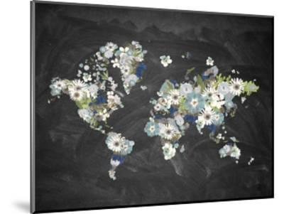 Blooming Map 2-Victoria Brown-Mounted Art Print
