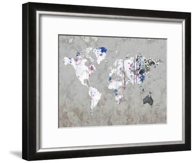 Map Your Adventures-Sheldon Lewis-Framed Art Print
