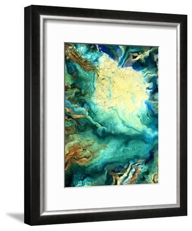Teal Day 1-Kimberly Allen-Framed Art Print