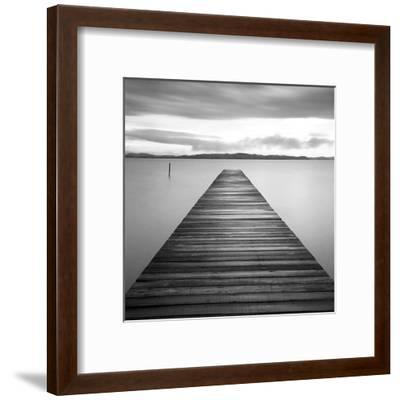 Evening Jetty-M^ Mun-Framed Art Print