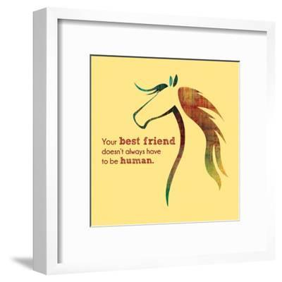 Horse Quote 10-Sports Mania-Framed Art Print