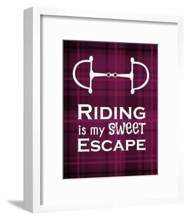 Riding is My Sweet Escape - Red-Sports Mania-Framed Art Print