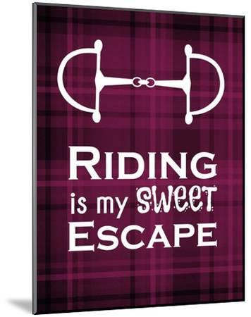 Riding is My Sweet Escape - Red-Sports Mania-Mounted Art Print