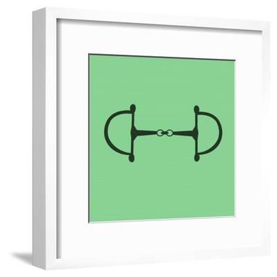 Horse Bit - Green-Sports Mania-Framed Art Print