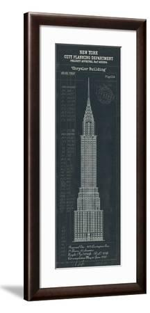 Chrysler Building Plan-The Vintage Collection-Framed Giclee Print