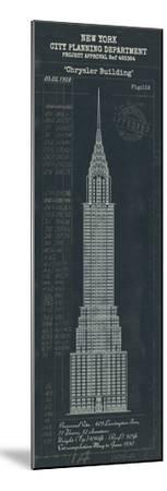 Chrysler Building Plan-The Vintage Collection-Mounted Giclee Print