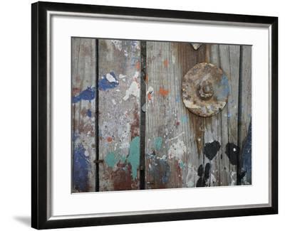 Aegean Brushstrokes V-Tony Koukos-Framed Giclee Print