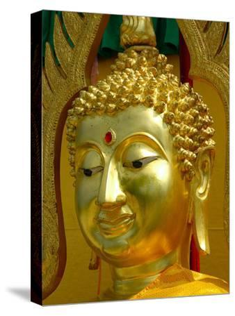 Golden Buddha Symbol Meditation-Wonderful Dream-Stretched Canvas Print
