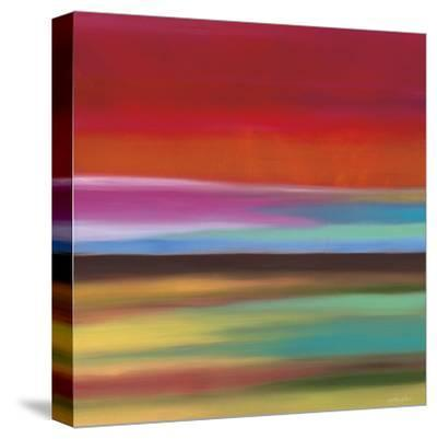 Red Skies-Mary Johnston-Stretched Canvas Print