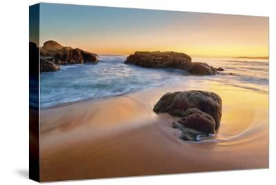 Beach at Cargese-Paolo De Faveri-Stretched Canvas Print