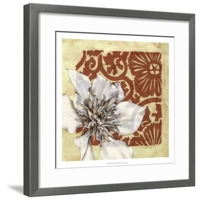 Flower Vignette II-Jennifer Goldberger-Framed Premium Giclee Print