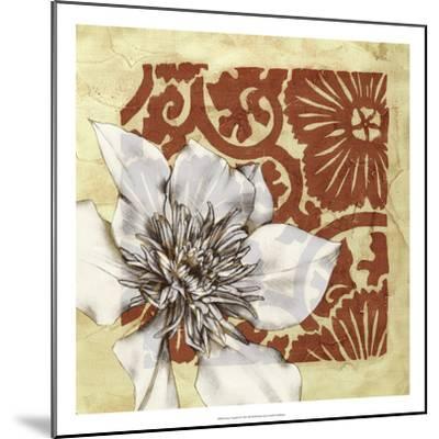 Flower Vignette II-Jennifer Goldberger-Mounted Premium Giclee Print
