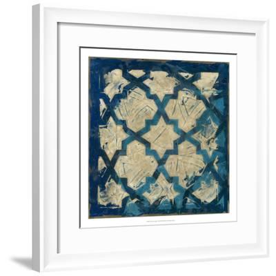 Stained Glass Indigo I-Megan Meagher-Framed Premium Giclee Print