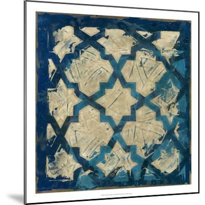 Stained Glass Indigo I-Megan Meagher-Mounted Premium Giclee Print