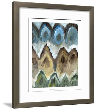 Flame Stitch Pattern II-Lisa Choate-Framed Premium Giclee Print