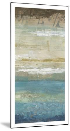 Ocean Strata III-June Vess-Mounted Premium Giclee Print