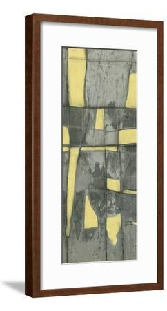 Lemon on Grey II-Jennifer Goldberger-Framed Premium Giclee Print
