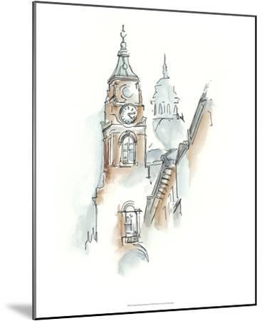 European Watercolor Sketches I-Ethan Harper-Mounted Premium Giclee Print