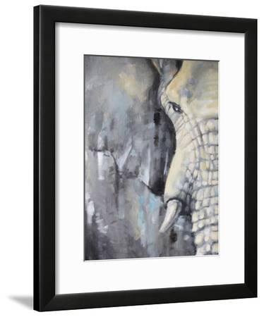 Majestic Pachyderm 1-Lena Navarro-Framed Art Print