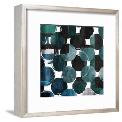 Blue Green Mayhem-Jace Grey-Framed Art Print