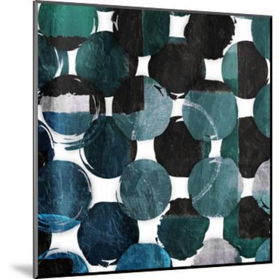 Blue Green Mayhem-Jace Grey-Mounted Art Print