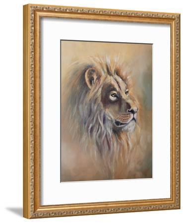 Lion 1-Lena Navarro-Framed Art Print